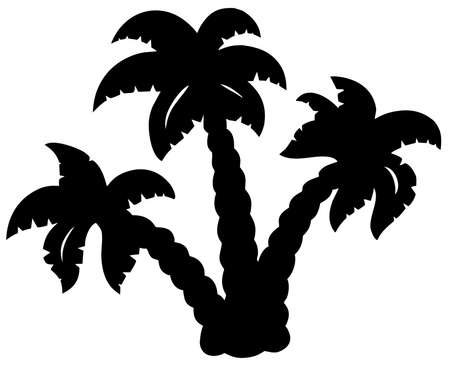 Palm trees silhouette - vector illustration. Vector