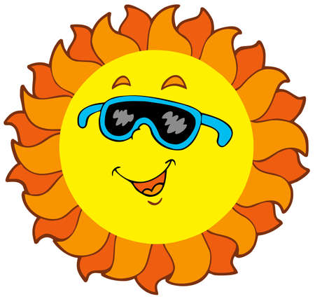 Happy cartoon Sun  Vector