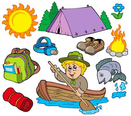 Summer outdoor collection  Vector