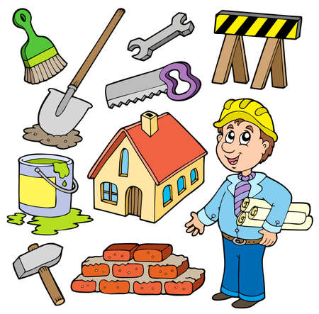 reconstruction: Home improvement collection - illustration.