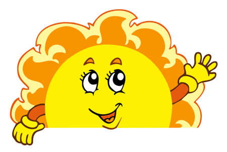 Happy waving Sun Stock Vector - 6860790