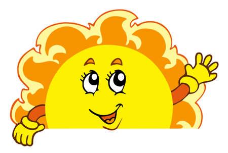 Happy waving Sun Иллюстрация