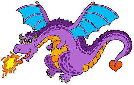 flying dragon: Huge flying dragon Illustration