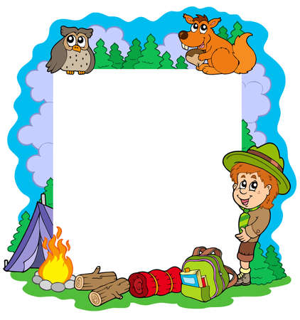 Outdoor summer frame Vector