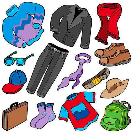 Men apparel collection - illustration. Stock Vector - 7078025