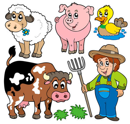 working animal: Farm cartoons collection
