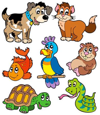 Colección de dibujos animados de mascotas