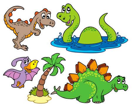 stegosaurus: Diversos de colecci�n de dinosaurio  Vectores