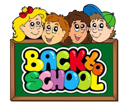 Back to school theme 5 Stock Vector - 7469520