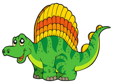 Cartoon small dinosaur Vector