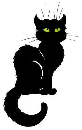 Dunkle Katze silhouette  Standard-Bild - 7469499