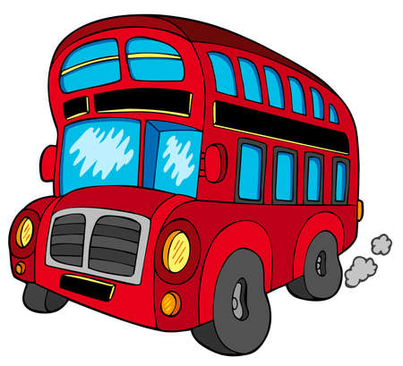 autobus: Doubledecker bus on white background   Illustration