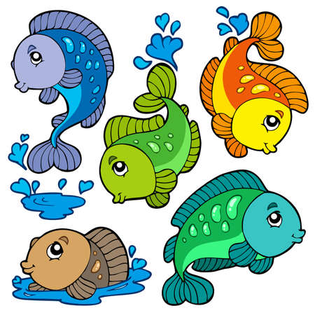 Freshwater fishes collection Stock Vector - 7469531