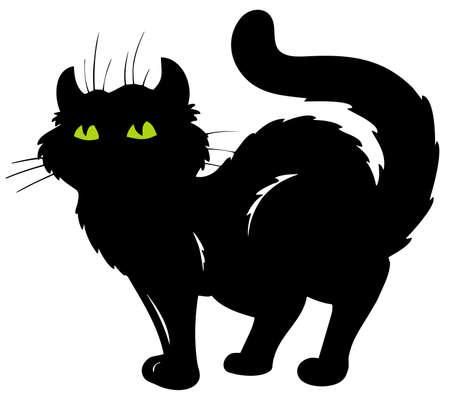 silueta de gato negro: Pie de silueta de gato