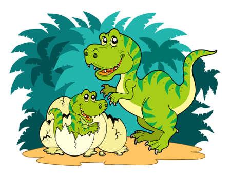 tiranosaurio rex: Familia de Tyrannosaurus rex  Vectores