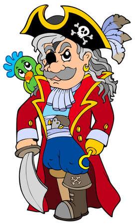 scowl: Cartoon noble corsair Illustration
