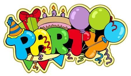 anniversary party: Cartoon partito segno