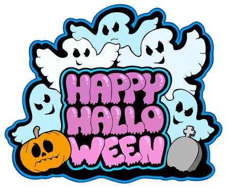 Happy Halloween Thema 3  Standard-Bild - 7554209
