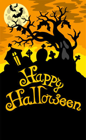 grave stone: Happy Halloween theme 6 Illustration