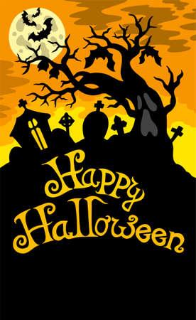 tombes: Joyeux Halloween th�me 6  Illustration
