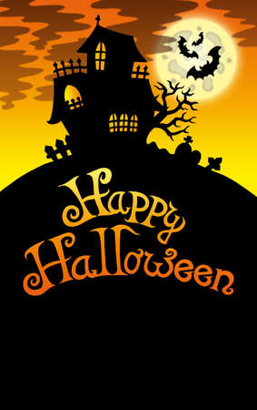 Halloween image with old house 2 - color illustration. Stock Illustration - 7554194