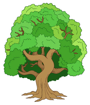 1 object: Green leafy tree Illustration