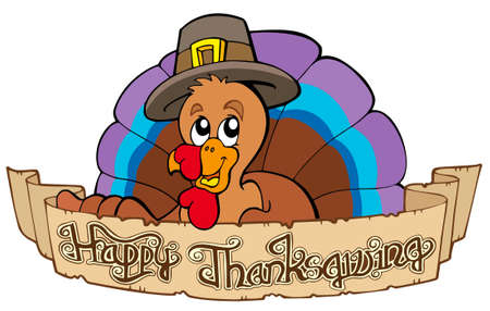Happy Thanksgiving theme 1 - illustration. Vector