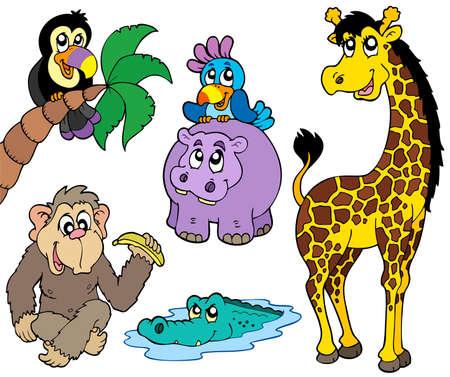 Set of African animals 2 - illustration. Stock Vector - 7929384