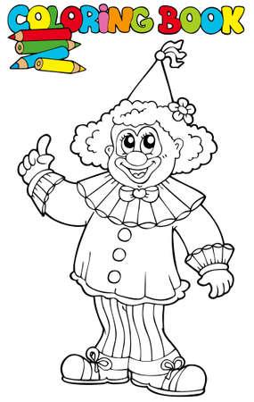 brincolin: Libro para colorear con payaso divertido - ilustración.