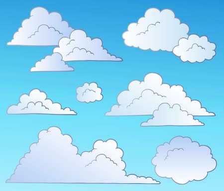 aerate: Insieme di nuvole fumetto - illustrazione.
