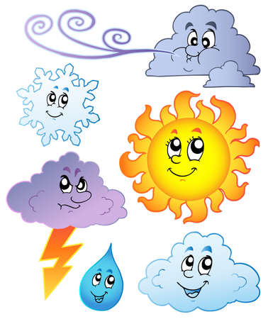 Cartoon weather images - illustration.