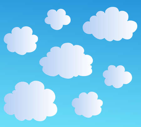 Cartoon clouds collection   illustration. Ilustracja
