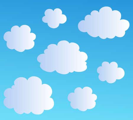nubes caricatura: Ilustraci�n de colecci�n de nubes de dibujos animados. Vectores