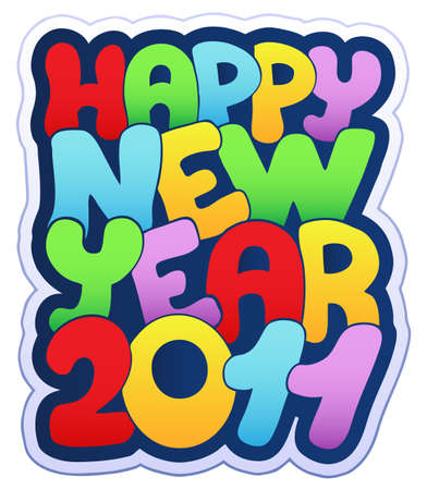 Happy New Year sign 2011 illustration. Stock Vector - 8195508