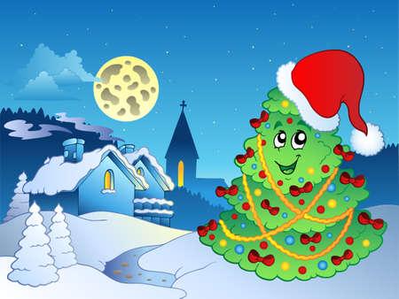 Merry Christmas theme  illustration. Vector