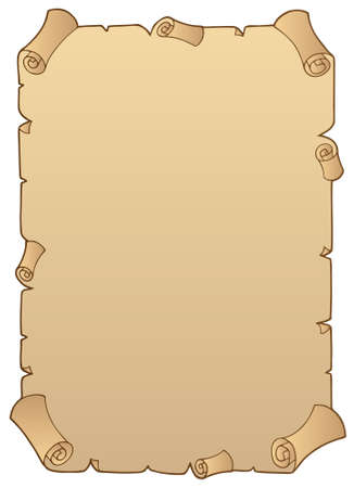 Ancient paper scroll 1 -   illustration. Vector