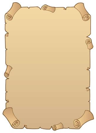 pergamino: Desplazamiento de papel antiguo 1 - ilustraci�n.