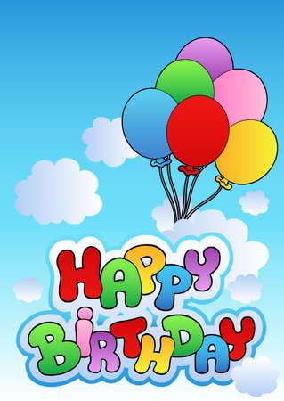 inflatable: Happy birthday image  - illustration.