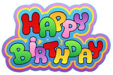 Happy birthday theme  - illustration. Vector
