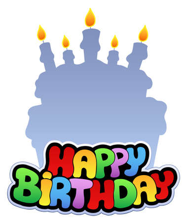 Happy birthday theme  - illustration. Vector
