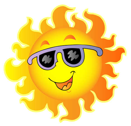 sun protection: Happy Sun with sunglasses