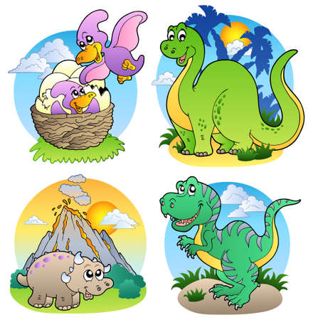 Various dinosaur images Vector