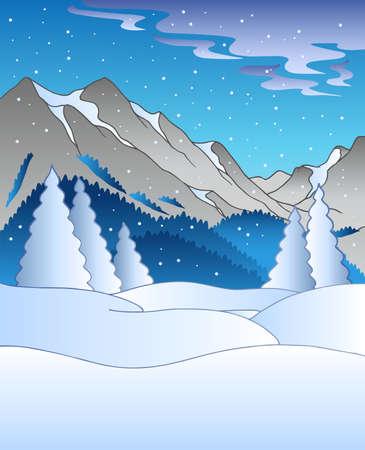 frieren: Winterlandschaft mit H�geln