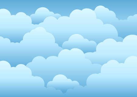 Bewölkten Himmel hintergrund - Illustration. Vektorgrafik