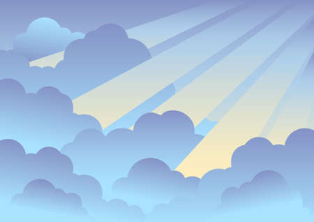 Cloudy sky background  - illustration. Vector