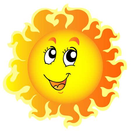 meteo: Cute happy Sun - illustration.