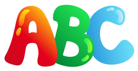 alphabetic character: Cartoon ABC letters - vector illustration. Illustration