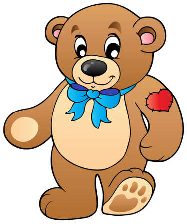 cuddly: Cute standing teddy bear Illustration