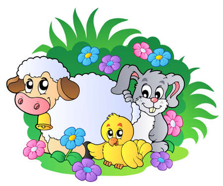 Group of spring animals Stock Vector - 8799937