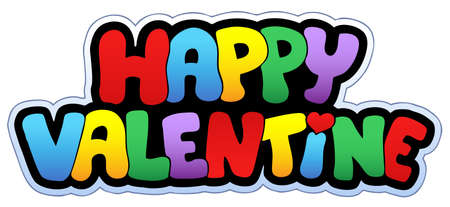 Happy Valentine cartoon sign Stock Vector - 8799877